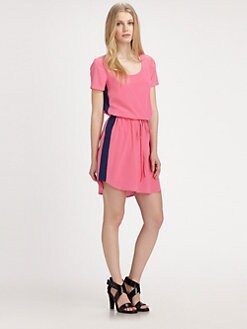 DKNY - Scoopneck Contrast-Stripe Dress