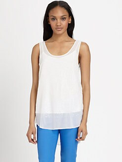 DKNY - Scoopneck Sequin-Detail Tank Top