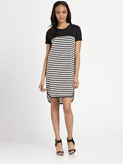 DKNY - Jersey-Bodice System Dress