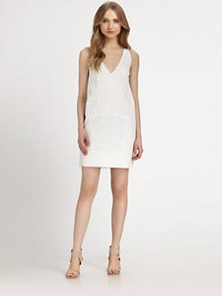DKNY - Cotton Eyelet Chemise Dress