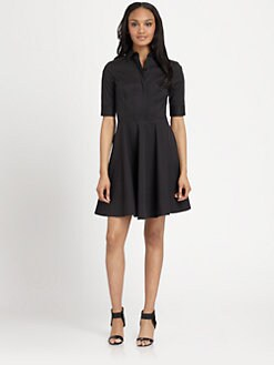 DKNY - Elbow-Sleeve Shirtdress