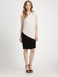 DKNY - Two-Tone Asymmetrical Dress