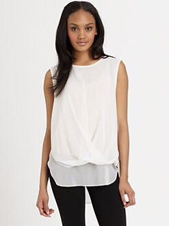 DKNY - Sleeveless Twist-Front Blouse