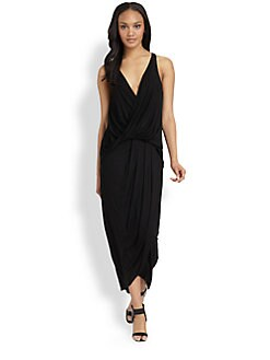 DKNY - Draped Jersey Maxi Dress