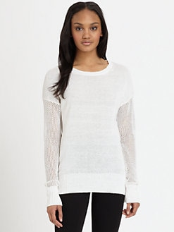 DKNY - Pointelle-Stitch Sweater
