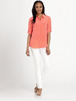 DKNY - Three-Quarter Sleeve Blouse