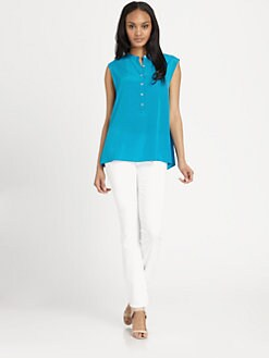 DKNY - Sleeveless Hi-Lo Blouse