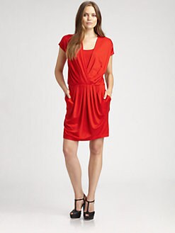 DKNY - Pleated-Front Dress