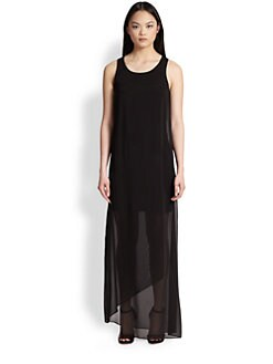 DKNY - Faux-Wrap Maxi Dress