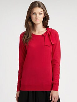 DKNY - Merino Wool Bow-Neck Sweater