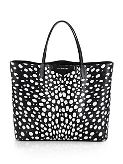 Givenchy - Antigona Spotted Faux-Leather Tote