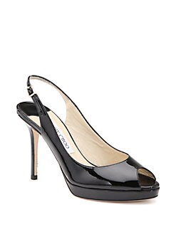 Jimmy Choo - Nova Patent Leather Slingbacks