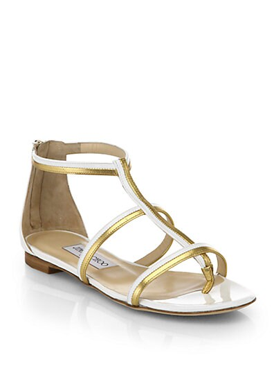 Tabitha Metallic  Patent Leather Sandals