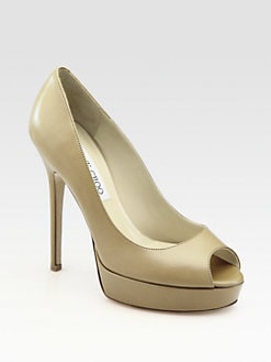 Jimmy Choo - Crown Peep-Toe Platform Pumps