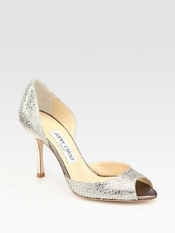 Jimmy Choo - Logan Glitter d'Orsay Pumps