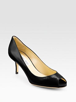 Jimmy Choo - Isabel Peep-Toe Pumps