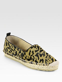 Jimmy Choo - Gaine Leopard-Print Pony Hair Espadrille Flats