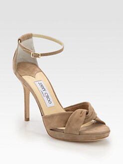 Jimmy Choo - Marion Suede Ankle Strap Sandals