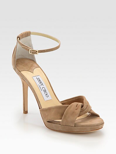 Marion Suede Ankle-Strap Sandals