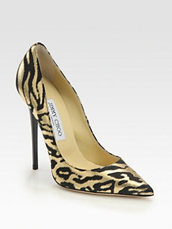 Jimmy Choo - Anouk Animal-Print Metallic Leather Pumps
