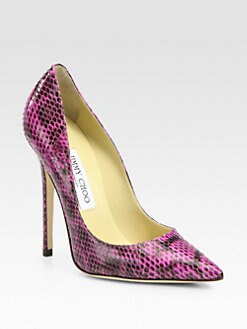 Jimmy Choo - Anouk Snake-Print Leather Pumps