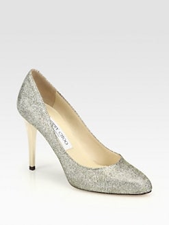Jimmy Choo - Vikki Lag Glitter Pumps