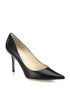 Jimmy Choo - Agnes Kid Leather Pumps