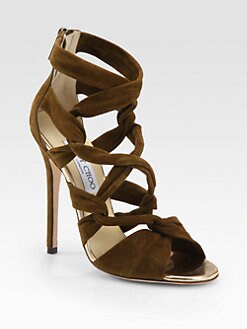 Jimmy Choo - Kemble Knotted Suede Sandals
