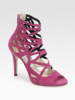 Jimmy Choo - Verdict Suede Cage Sandals