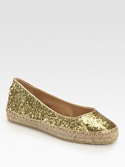 Jimmy Choo - Pow Glitter & Patent Leather Espadrilles