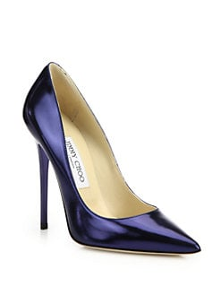 Jimmy Choo - Anouk Metallic Leather Pumps