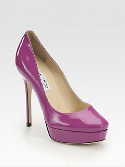 Jimmy Choo - Cosmic Patent Leather Platform Pumps