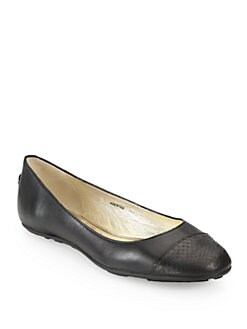Jimmy Choo - Whirl Snakeskin & Leather Ballet Flats