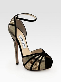 Jimmy Choo - Kalpa Mixed Media Platform Sandals