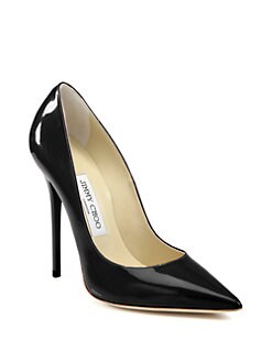 Jimmy Choo - Anouk Patent Leather Point Toe Pumps