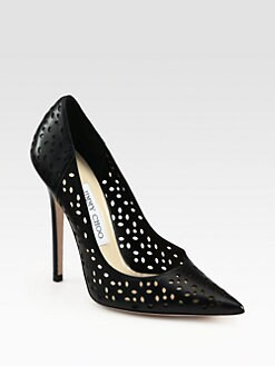 Jimmy Choo - Anouk Perforated Leather Pumps