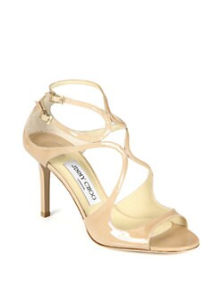 Jimmy Choo - Ivette Strappy Patent Leather Sandals