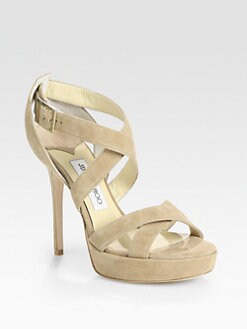 Jimmy Choo - Vamp Sue Strappy Suede Platform Sandals