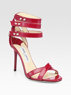 Jimmy Choo - Dive Patent Leather Ankle Strap Sandals