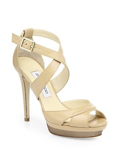 Jimmy Choo - Kuki Leather Platform Sandals