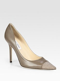 Jimmy Choo - Amika Studded Leather Pumps