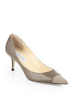 Jimmy Choo - Anvil Studded Leather Pumps