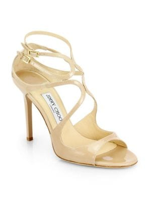 Lang 100 Strappy Patent Leather Sandals