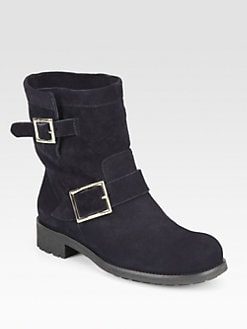 Jimmy Choo - Youth Suede Biker Boots