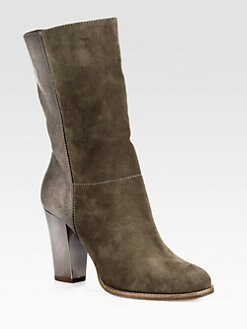 Jimmy Choo - Music Leather & Suede Mid-Calf Boots