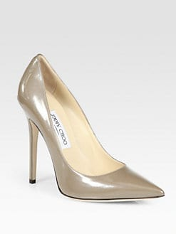 Jimmy Choo - Anouk Enamel Patent Leather Pumps