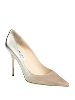 Jimmy Choo - Abel Suede & Metallic Leather Pumps