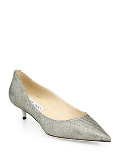 Jimmy Choo - Amelia Glitter Lame Pumps