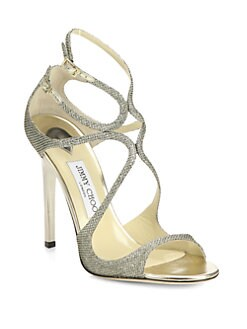 Jimmy Choo - Lance Lam&#233; Glitter Sandals