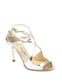 Jimmy Choo - Ivette Metallic Leather Sandals